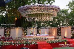 Brides dream of finding the ideal wedding ceremony, however for this they need t. Brides dream of finding the ideal wedding ceremony, however for this they need the most perfect wedding outfit, with Desi Wedding Decor, Wedding Hall Decorations, Wedding Stage Design, Wedding Entrance, Wedding Mandap, Wedding Events, Wedding Ideas, Trendy Wedding, Wedding Table