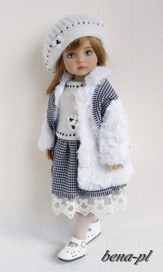 """bena-pl Clothes for Effner Little Darling 13"""", Betsy McCall 14"""" OOAK outfit"""