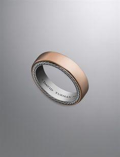 David Yurman | David Yurman Men's Wedding Rings & Bands | DavidYurman.com | Streamline Ring, 6mm