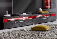 Wohnzimmer rot ~ Fonteyn lowboard walnuss und rot made jetzt bestellen unter