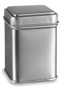 """Specialty Bottle - 2.5"""" Square Tea Tin with Slip Lid, $0.89 (http://www.specialtybottle.com/metal-tin-containers/tea/tsq2)"""