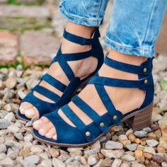 ceab4568642 Spring Multi-Strap Heeled Sandals