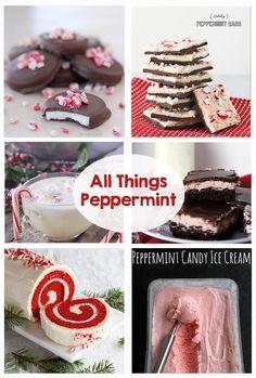 All things peppermint! Ice cream, mints, cheesecake, bark, egg nog, milkshake, popcorn, cake, brownie, oreo, hot chocolate, extract, sugar scrub, bath salts, bath bomb and so much more! Yum!