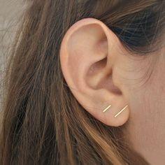 Image result for two holes same hoop ear piercing