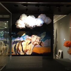 Window up! #defininghome opening reception this Friday Nov 3rd 6-9pm #artuptowngallery #cake #pies #champagnepunch