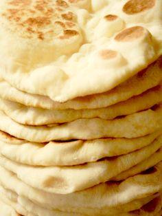Homemade pitas and flatbread