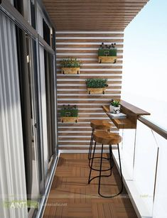 Wonderful Small Apartment Balcony Decor Ideas with Beautiful Plant - Apartment Decor - Design RatBalcony Plants tan Furniture Small Balcony Design, Small Balcony Garden, Small Balcony Decor, Terrace Design, Balcony Ideas, Small Balcony Furniture, Garden Design, Small Balconies, Outdoor Balcony