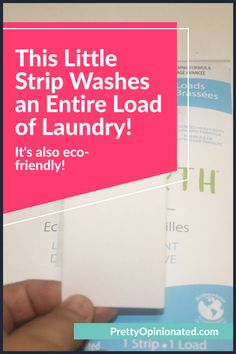 """Could a strip of paper really clean an entire load of laundry? Short answer: yes. Check out my Tru Earth Eco Strips Laundry detergent review for the long answer, including the """"how"""" and """"how well."""" Types Of Learners, Mom Hacks, Laundry Detergent, Sensitive Skin, Earth, Cleaning, Paper, Pretty, Check"""