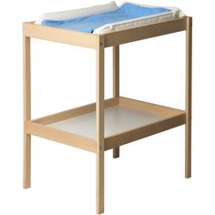 IKEA SNIGLAR Changing table, beech, white ($30) ❤ liked on Polyvore featuring home, children's room, children's furniture, nursery furniture, baby stuff, changing table, kids e nursery