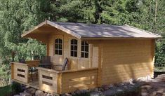 This charming little cabin from Ecolog Homes is just small enough that it doesn't require a building permit in most municipalities. Therefore it is the idea living space ..
