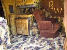 Basement carpet.