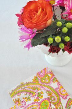 Project Nursery - Paisley Napkins