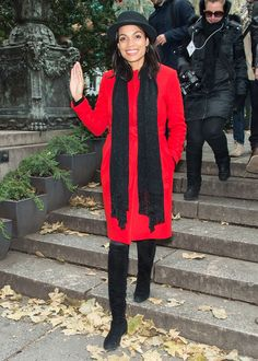 Rosario Dawson from Celebs in Coats   E! Online