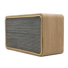 Wooden Digital Sound Box Bluetooth Speaker, Lonpoo ES-W75 MAXX BASS Loudspeaker with Touch Screen Control& Fashion Steel Net Designed