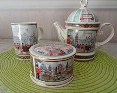 Sadler teapot, Horseguards, $65 set