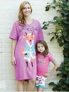 For Fox Sake Women's Sleepshirt - Justin Porterfield ltd Women's Sleep Shirts, Shirt Dress, T Shirt, Fashion Accessories, Fox, Floral, Inspiration, Beautiful, Dresses