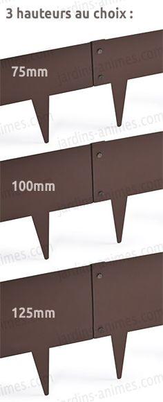 Bordure acier Corten (aspect fer oxydé rouille) long. 2.50 Mètres ...