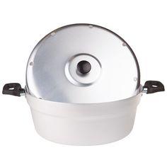 Fornetto Versiliain alluminio di Pentole Agnelli. Adatto per cucinare sul gas come nel forno. Alluminio puro al 99,5% Manico e pomolo inplastica Coperchio e piastra in ferro INCLUSI Salva