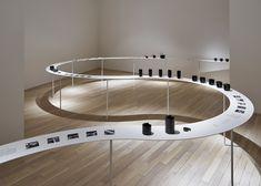Nendo designs sinuous display for Tokyo tableware exhibition