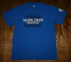 2011 Cheer for Old NOTRE DAME Football Tradition T-SHIRT Tee-Mens L-Adidas Irish