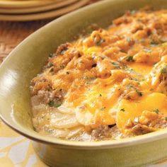 Potato Sausage Casserole - Perfect comfort food and soooo good!