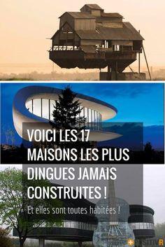 Vous en avez marre d'habiter dans une maison carrée ? Voilà 17 maisons totalement dingues, construites par des gens avec une imagination débordante !  #architecture #maisons #insolite