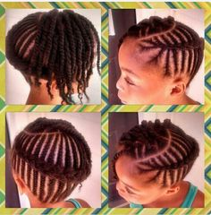 Cute Protective Style. When ready to vamp it up.. Take down twists, finger comb to your liking. And Wa-lahhh!! Different braiding techniques another alternative.