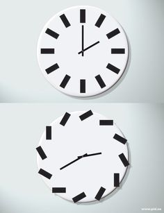 A clock that is different every time you look at it.