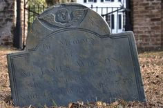 Midway Congregational Church Cemetery Liberty County GA Slate Headstone of James Wilson Photograph Copyright Brian Brown Vanishing Coastal Georgia USA 2015