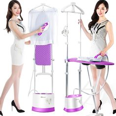263.86$  Buy here - http://aliq76.worldwells.pw/go.php?t=32763417006 - 13 gears adjuatable steam hanging ironing machine household electrodeless 9 speed dual pole flat hot vertical garment steamer