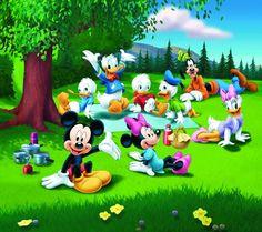 Disney... Mickey Mouse, Minnie Mouse, Daisy Duck, Donald Duck, Goofy, Huey Dewey and Louie
