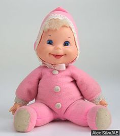 These cute dolls had all kinds of colored pj's with matching head covering