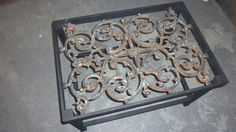 For Sale: Iron fence panel  coffee table - fence panel coffee table CT7136    22x31x19H coffee table - $210.00