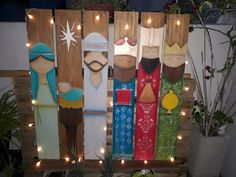 Christmas Yard Art, Christmas Yard Decorations, Christmas Wood Crafts, Pallet Christmas, Christmas Signs, Holiday Crafts, Christmas Holidays, Christmas Nativity, Outdoor Nativity