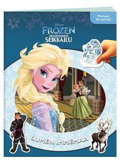 Satumaisen Frozen, Lumen ihmemaa -tarrakirjan sivuilla tutustut kuninkaallisiin siskoksiin Annaan ja Elsaan ja heidän hauskoihin ystäviinsä. Voit tehdä valmiiksi veikeän lumiukon, yhdistellä pareja ja koristella huurteisen maiseman tarroilla, jotka voi irrottaa ja kiinnittää kerta toisensa jälkeen!