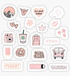 Vsco stickers featuring millions of original designs created by independent artists. Decorate your laptops, water bottles, notebooks and windows. Stickers Cool, Cute Laptop Stickers, Bubble Stickers, Phone Stickers, Journal Stickers, Planner Stickers, Kawaii Stickers, Homemade Stickers, Aesthetic Stickers