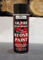Calfire Stove Paint - Various Colous  http://www.woodburningstovesandflues.co.uk/stove-accessories-stove-paint-c-160_161/stove-paint-aerosol-cans-of-various-colours-p-705