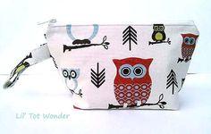 Diaper Clutch Owls/Wet Bag by LilTotWonder on Etsy, $15.00