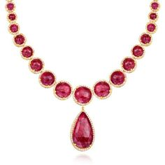 One of a kind handcrafted Scott Mikolay Rose Cut Ruby and Diamond Necklace in 18k yellow gold: http://www.desiresbymikolay.com/collections/scott-mikolay/products/scott-mikolay-ruby-diamond-necklace:
