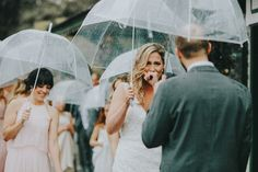 While rainy wedding day photos might be underappreciated, they certainly aren't any less beautiful, so we challenged our Photobug Community to share