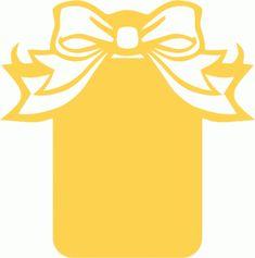 Silhouette Design Store - View Design #42489: ribbon bow cutout tag