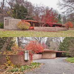"""The """"Kenneth Laurent"""" House designed by architect Frank Lloyd Wright. Rockford, Illinois."""