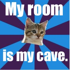 My room is my cave.