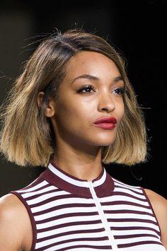 Best Model Beauty Looks | New York Fashion Week Spring 2015 | POPSUGAR Beauty.  Jourdan Dunn at Topshop Unique Spring 2015