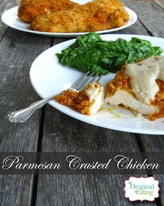 This Paleo Parmesan Crusted Chicken is tangy, crunchy, and low carb! Click here to learn how to make this flavorful dish that will please the whole family!