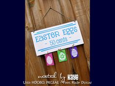 EASTER EGG SIGN CRAFT - Project made using our downloadable digital designs. - Vinyl Ready Designs http://www.vinylreadydesigns.com/category2.php?search=easter=Search