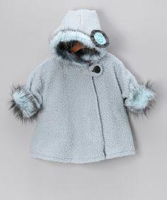 Blue Popcorn Wrap Swing Coat  - Infant, Toddler & Girls  #zulily #fall