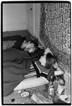 William Gedney - Teenagers in bed with tapestry on wall behind. San Francisco, California, 1966-7.