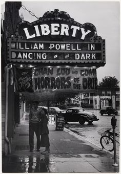 """""""African American Couple in front of Segregated Movie Theatre"""" Photograph by Gordon Parks. Courtesy Museum of Fine Arts, Boston"""