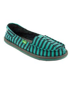 3b48c16279a3 Sanuk Teal   Black Stripe Castaway Slip-On Shoe - Women